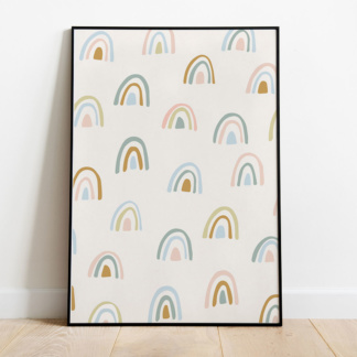 Bunni Rainbow Forest Art Print - A3