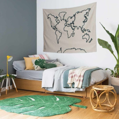 Lorna Canals Canvas Map Wall Hanging