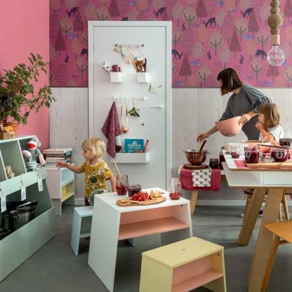 Vox Tuli Toddler Table - White & Pink