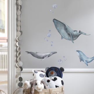 Bunni Watery Whale Wall Decals