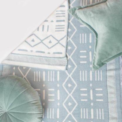 Bunni Aztec Baby Blanket - Pistachio