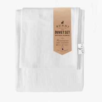 Bunni Signature Duvet Set - Cloudy White