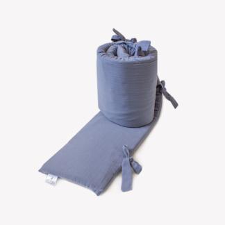 Bunni Signature Cot Bumper Cover - Dusky Blue