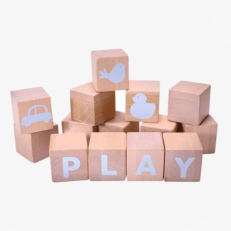Grow Baby Alphabet Blocks - Blue