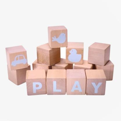 Grow Baby Alphabet Blocks - Blue