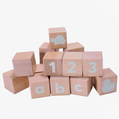 Grow Baby Alphabet Blocks - Spearmint