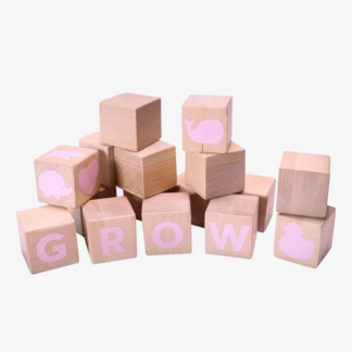 Grow Baby Alphabet Blocks - Pink