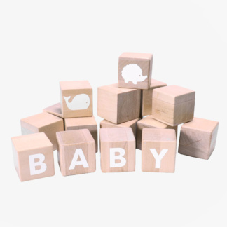 Grow Baby Alphabet Blocks - White