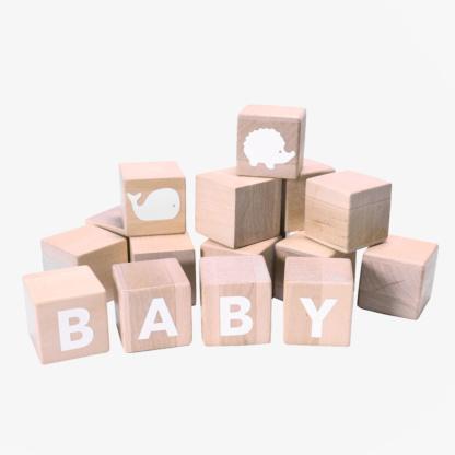 Grow Baby Alphabet Blocks - White