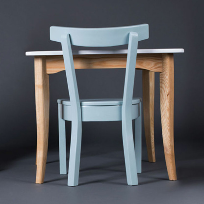 Woodbender Ashton Children's Chair - Blue & Table