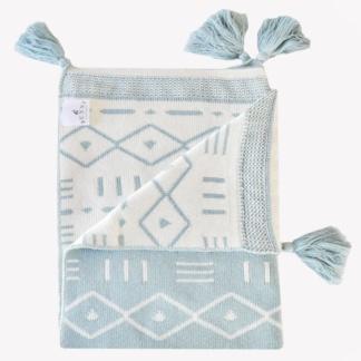Bunni Aztec Blanket - Pistachio