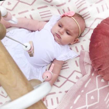 Bunni Aztec Baby Blanket - Rose