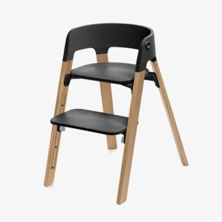 Stokke Steps Chair - Black Seat & Oak Legs