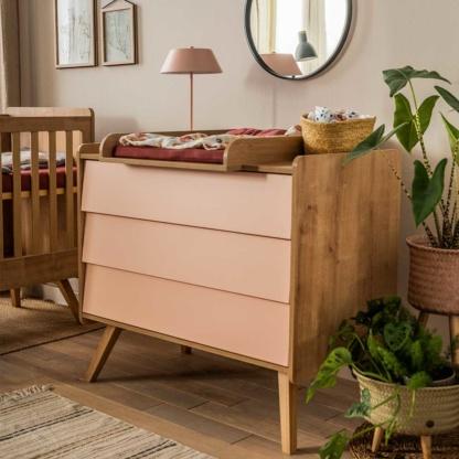 Vox Vintage Compactum without Changer - Oak & Pink