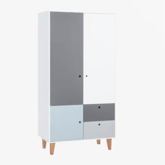 Vox Concept Two-Door Wardrobe - Sky Blue