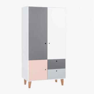 Vox Concept Two-Door Wardrobe - Pink
