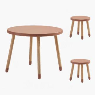 Flexa cherry table & stools