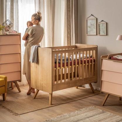 Vox Baby Bedding Set 100x80 - Brick Red
