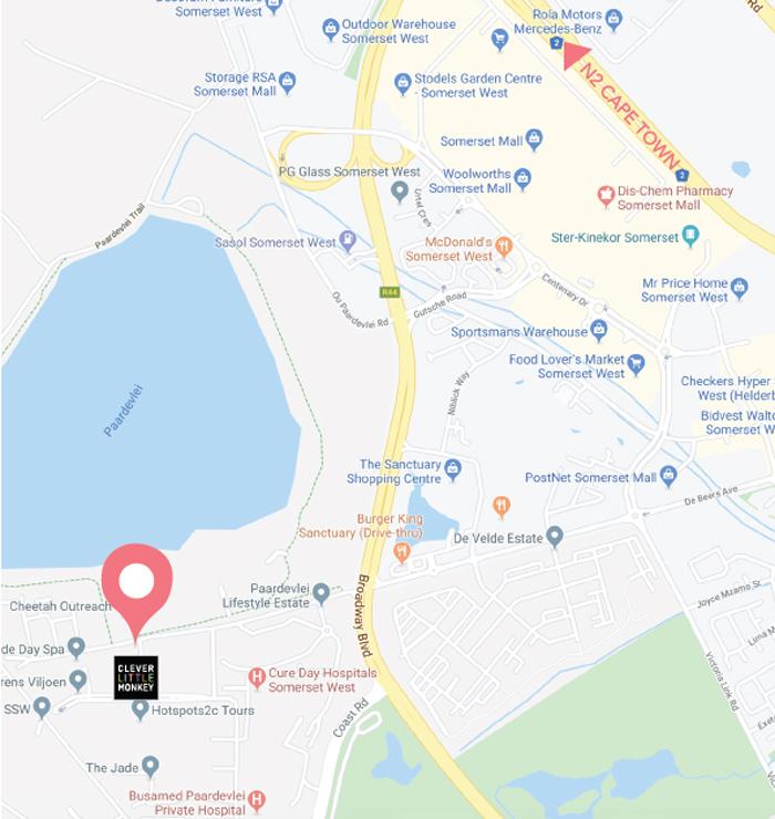 Clever Little Monkey Paardevlei map