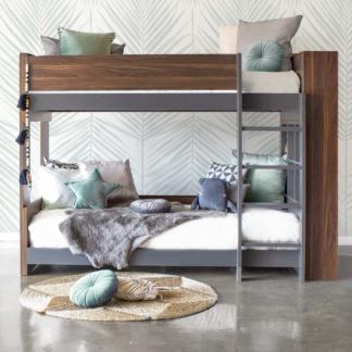 Flant & Mungo Bunk Bed - Grey & Walnut