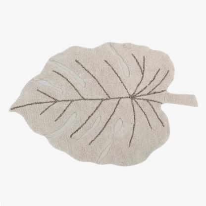 Lorena Canals Monstera Leaf Rug - Natural