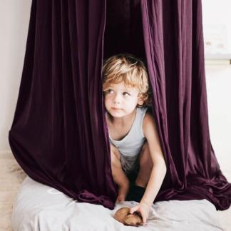 Moo Cachoo Hanging Tent Canopy - Aubergine