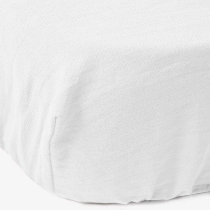Maravi Moses Basket Signature Fitted Sheet - Cloudy White