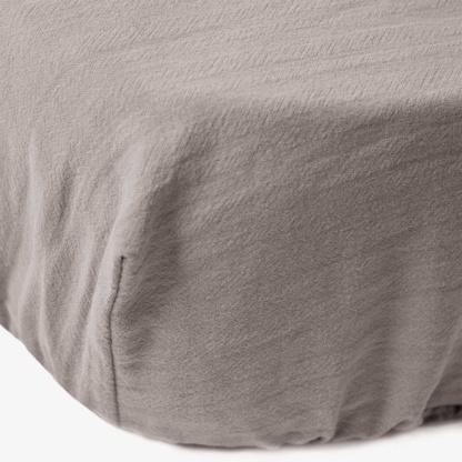 Maravi Moses Basket Signature Fitted Sheet - Misty Grey
