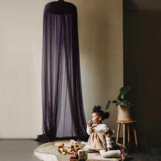 Moo Cachoo Hanging Tent Canopy - Netting - Aubergine