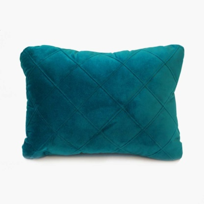 Velvet Quilted Scatter in Petrol