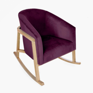 Demi Rocking Chair Aubergine