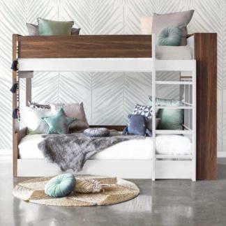 Flant & Mungo Bunk Bed - White & Walnut
