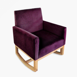 Thea Rocking Chair Aubergine