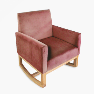 Thea Rocking Chair Dusty Rose
