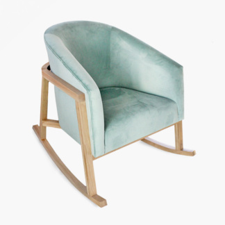 Demi Seafoam Velvet Rocking Chair