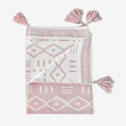 Aztec Baby Blanket - Rose