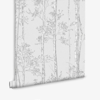 Branches Wallpaper in Grey