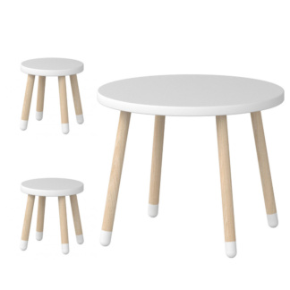 Flexa Play Table and 2 Stool Set