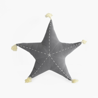 Sea Star Scatter with Tassels in Misty Grey