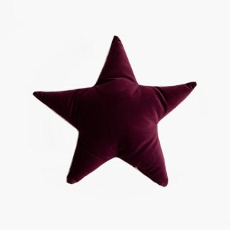 Moo Cachoo Aubergine Velvet Star Scatter