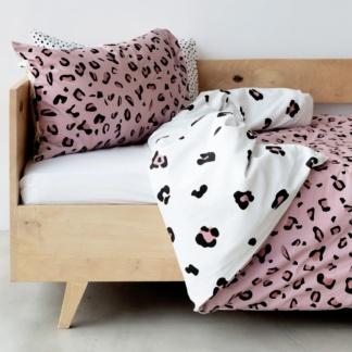 Duvet Set - Pink & White Leopard Print