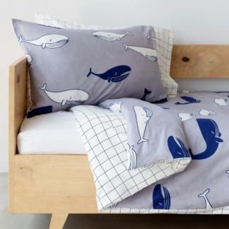Whale & Grid Duvet Set